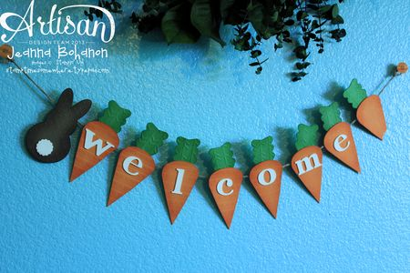Welcome Easter Bunny banner Stampin Up decor