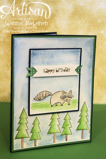 Life in the Forest Birthday Card - Jeanna Bohanon Stampin Up Artisan Design Team