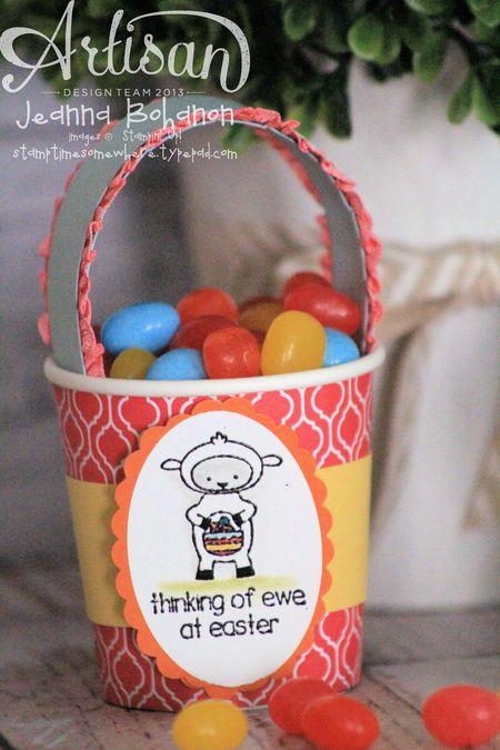 Eggstra Spectacular Ensemble Coffee Cup basket Jeanna Bohanon Stampin Up Artisan Design Team