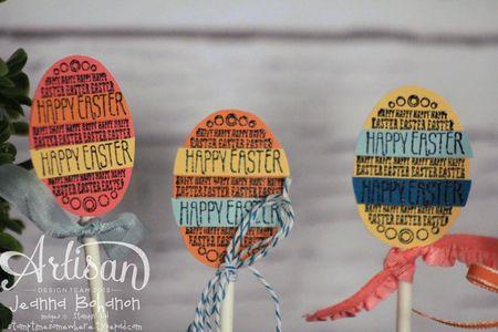 Eggstra Spectacular Ensemble Centerpiece close up Jeanna Bohanon Stampin Up Artisan Design Team