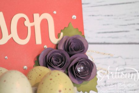 Jumbo Gift Tag with Spiral Flower by Jeanna Bohanon Stampin' Up! 2