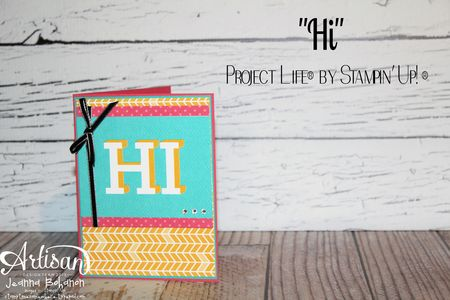 Project Life by Stampin' Up! Hi card Jeanna Bohanon