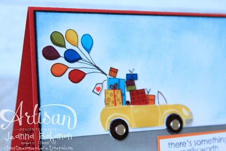 Road to Happiness card close up Stampin' Up! Jeanna Bohanon