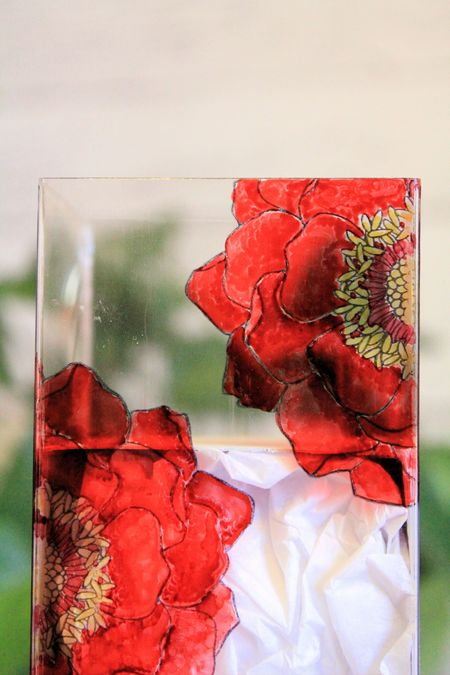 Stained Glass Tag a Bag Box with Blended Blooms and Blendabilities Jeanna Bohanon 4