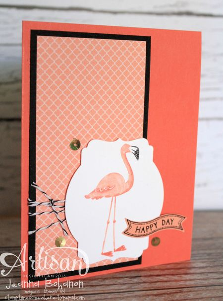 Flamingo Lingo Ronald McDonald House Stampin' Up! card by Jeanna Bohanon