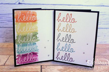Hello Fabulous Four Card Set 2 Jeanna Bohanon 2013 Stampin Up! Artisan Design Team