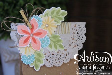 Flower Fest Bag 2 July Stampin Up! Artisan Design Team by Jeanna Bohanon