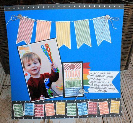 Amazing Birthday Scrapbook Page Jeanna Bohanon Inspire Create Share 2014