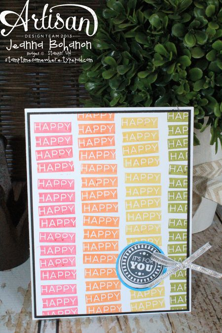 Amazing Birthday So Happy Card Jeanna Bohanon Stampin' Up! Convention 2014 Display Board