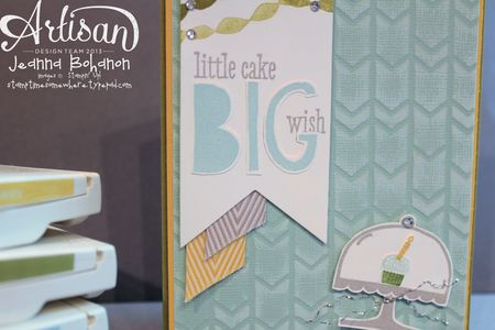 Big Wish Birthday card detail Jeanna Bohanon Stampin Up Artisan Design Team