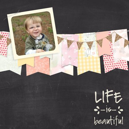 Blossoms Abound Life Scrapbook Page My Digital Studio Jeanna Bohanon