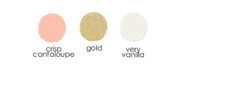 Color Combo Crisp Cantaloupe Gold Very Vanilla