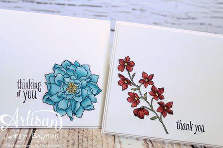 Peaceful Petals cards Stampin' Up 1 Jeanna Bohanon