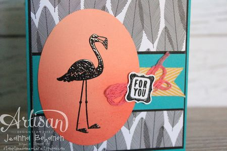 Flamingo Lingo Ombre 2 Ronald McDonald House Stampin' Up! card by Jeanna Bohanon