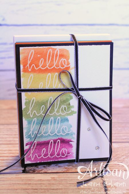 Hello Fabulous Four Card Set 1 Jeanna Bohanon 2013 Stampin Up! Artisan Design Team