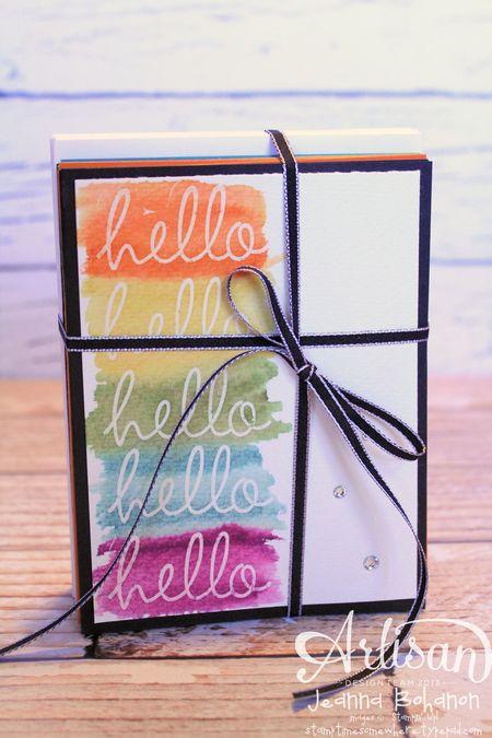 Hello Fabulous Four Card Set 1 Jeanna Bohanon 2013 Stampin Up! Artisan Design Team