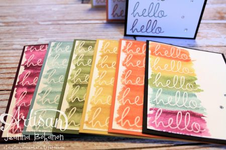Hello Fabulous Four Card Set 3 Jeanna Bohanon 2013 Stampin Up! Artisan Design Team