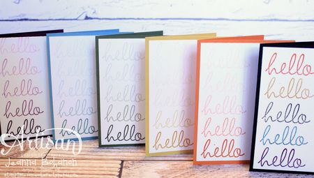 Hello Fabulous Four Card Set 5 Jeanna Bohanon 2013 Stampin Up! Artisan Design Team