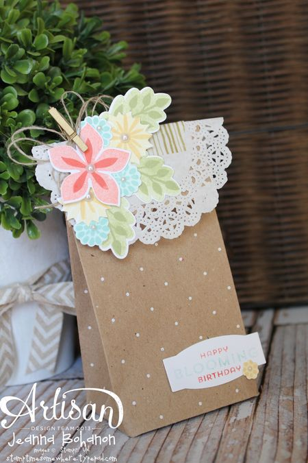 Flower Fest Bag July Stampin Up! Artisan Design Team by Jeanna Bohanon