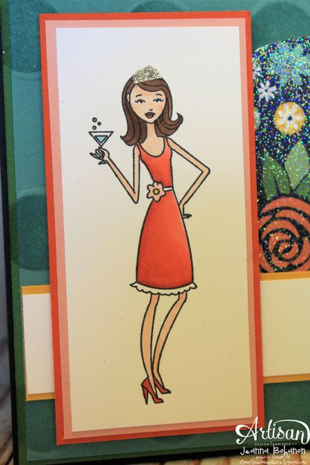 N This Together July 2013 Stampin' Up! Artisan Design Team card Jeanna Bohanon close 1
