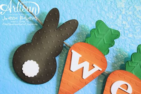 Welcome Easter Bunny banner Stampin Up decor close up
