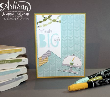 Big Wish Birthday Card Jeanna Bohanon Stampin Up Artisan Design Team