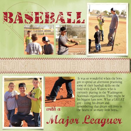 Baseball scrapbook page Stampin' Up! MDS Jeanna Bohanon