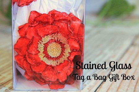 Stained Glass Tag a Bag Box with Blended Blooms and Blendabilities Jeanna Bohanon MAIN