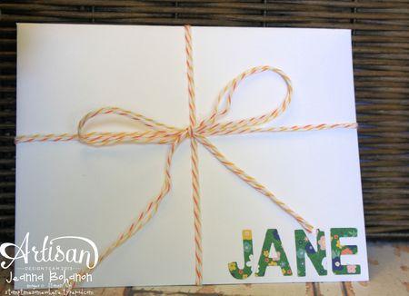 N This Together July 2013 Stampin' Up! Artisan Design Team card Jeanna Bohanon envelope