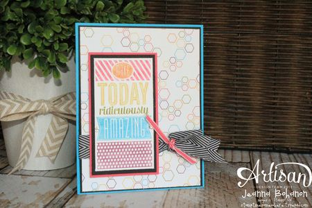 Amazing Birthday Card 1 Jeanna Bohanon 2014 Stampin' Up! Convention