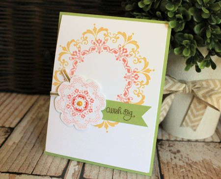 Daydream Medallion and Floral Frames Stampin' Up! card by Jeanna Bohanon