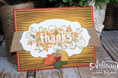 Seasonally Scattered Thanks Card Jeanna Bohanon