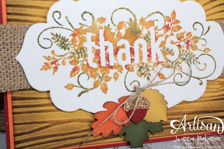 Seasonally Scattered Thanks Card close Jeanna Bohanon