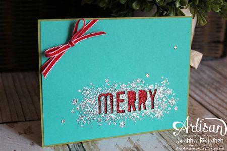 Seasonally Scattered Silver Merry Card  Jeanna Bohanon