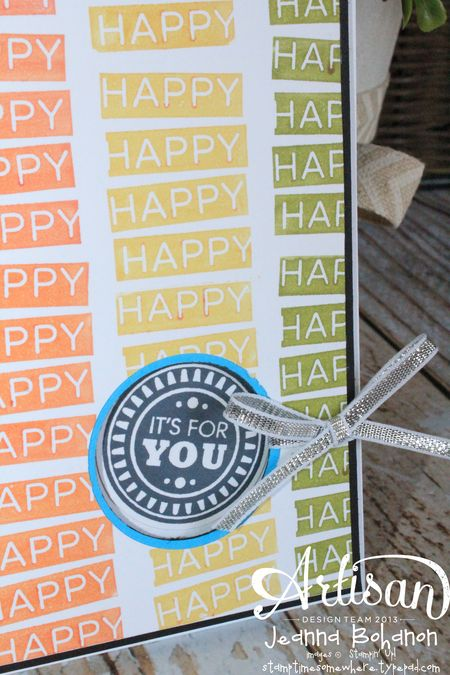 Amazing Birthday So Happy Card Jeanna Bohanon Stampin' Up! Convention 2014 Display Board 2