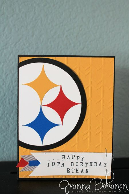 Steelers card CCC043 Jeanna Bohanon Stampin Up