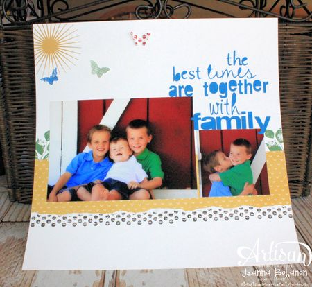 Kinda Eclectic Scrapbook Page Jeanna Bohanon2014 Stampin' Up! Convention Display