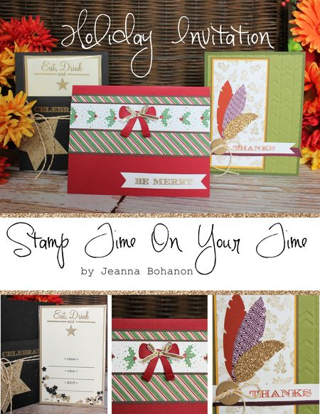 Holiday Invitation - Stamp Time On Your Time Jeanna Bohanon