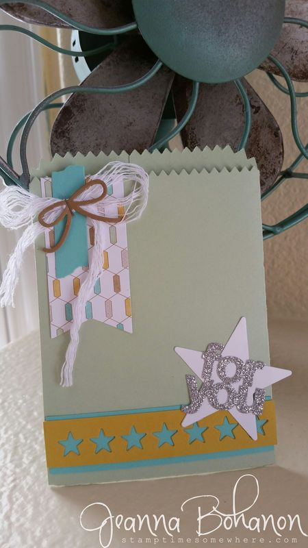 Mini Treat Bag Thinlit ensemble Jeanna Bohanon Stampin Up bag 3