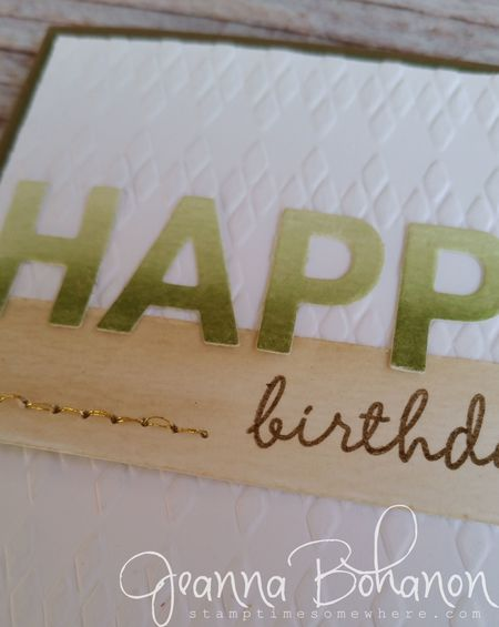 Freshly Made Sketches #200 Stampin' Up! by Jeanna Bohanon close up