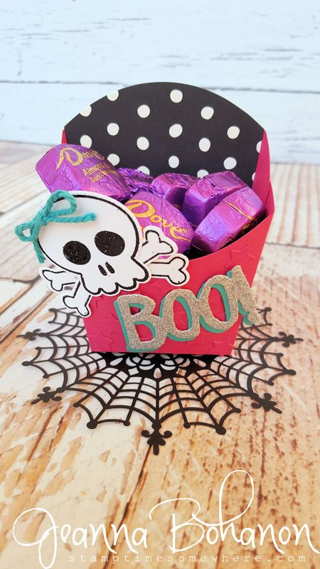 Howl-O-Ween Treat stepped up box WCBH Stampin' Up! Jeanna Bohanon