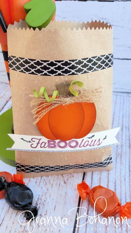 #TGIFC27 Jeanna Bohanon Stampin' Up! Halloween Bag 2