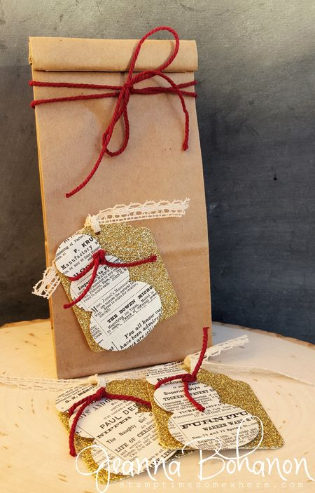 Fancy Friday Stampin' Up! Quick Christmas Tags Jeanna Bohanon 1