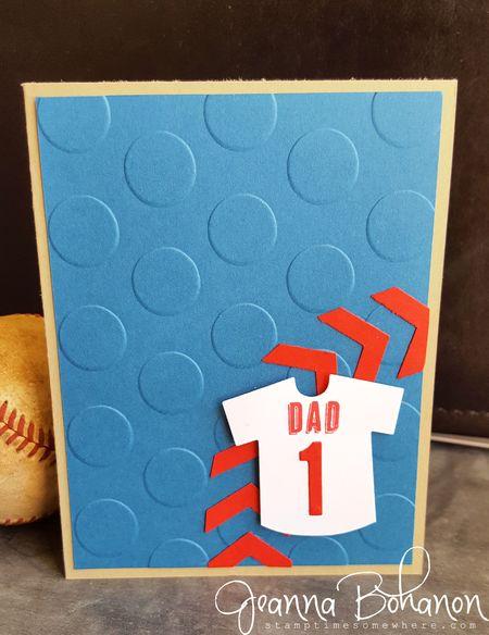 #TGIFC56 Stampin' Up! baseball Jeanna Bohanon