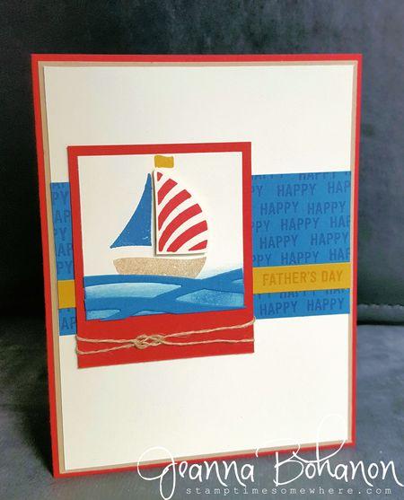 #TGIFC59 Stampin' Up! Swirly Bird Fathers Day card Jeanna Bohanon