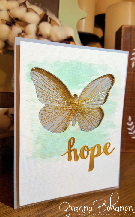 Stampin' Up! Butterfly Thinlit String Art by Jeanna Bohanon