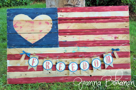 #TGIFC62 Large Letters 4th of July Patriotic Banner - Stampin' Up! Jeanna Bohanon 2