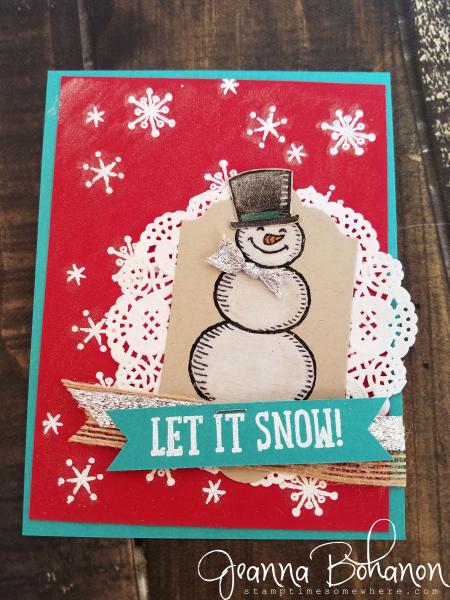 OSAT Blog Hop Stampin' Up! Snow Place Jeanna Bohanon
