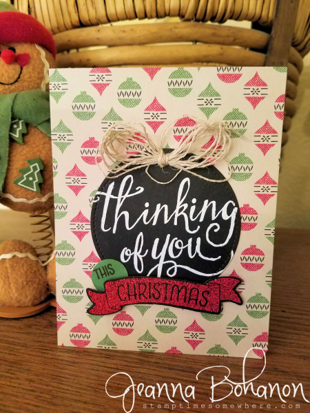PCC221 Stampin ' Up! Warmth and Cheer Jeanna Bohanon