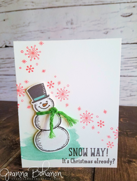 #TGIFC86 Stampin' Up! Snow Place by Jeanna Bohanon